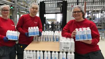 Savett-käsidesin valmistus aloitettiin Orklan Falunin tehtaalla huhtikuussa