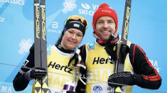 Britta Johansson-Norgren ja Trond Asle Gjerdalen ovat ensimmäisen Visma Alp Trophyn voittajia