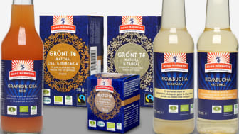 I årets första nyhetssläpp från Kung Markatta utökas sortimentet med 6 nya ekologiska och Ä-märkta drycker.