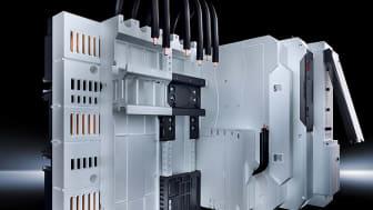 Strömfördelning.jpg: Med RiLine Compact erbjuder Rittal för första gången tillverkare av små styr- och kontrollskåp ett typtestat innovativt strömfördelningssystem.