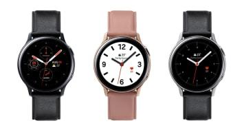 Galaxy Watch Active2 - kommer i to ulike størrelser og i tre ulike farger.