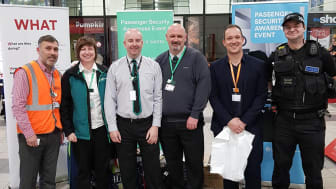 From left: Darren Hanley, head of security and emergency planning with revenue and security managers and a BTP officer