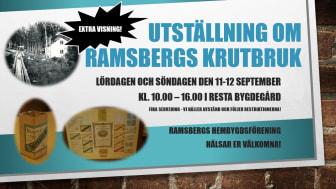 Utställning om Ramsbergs Krutbruk