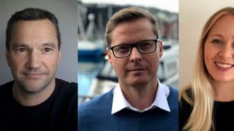 Frank Isaksen, Jon Hallvard Oddstøl og Anna Reibo Jentoft starter i Sjømatrådet.