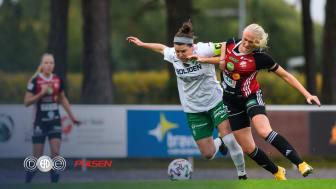Bilden från match mellan Morön BK och Lidköpings FK i Elitettan säsongen 2020