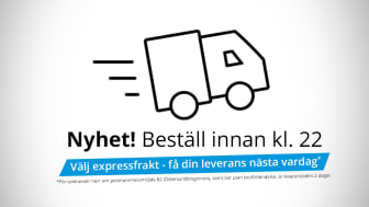 NetOnNet förlänger ordertiden för expressleveranser till kl 22.