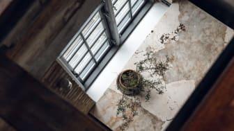 Med Dekton Khalo tycker Trine & Anders att de har fått ett konstverk som bänkskiva: 'Det är en riktigt intressant syn att kolla ner på den stora köksön