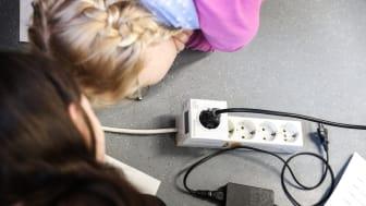 Als Stromspardetektiv im Klassenzimmer unterwegs