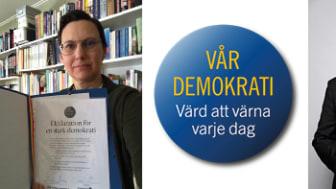Helena Stenberg undertecknade deklarationen under en digital länskonferens där kommitténs ordförande Peter Örn deltog.