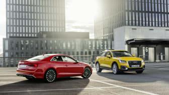 Euro NCAP test: five stars for the Audi A5 Coupe, Audi A5 Sportback and Audi Q2