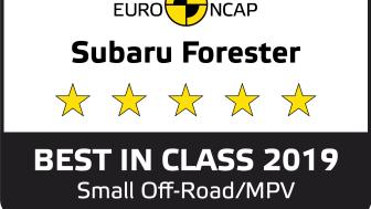 Subaru Forester e-Boxer on luokkansa turvallisin henkilöauto 2019.