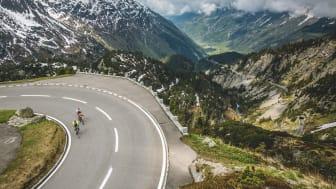 Rennradfahrer auf dem Sustenpass