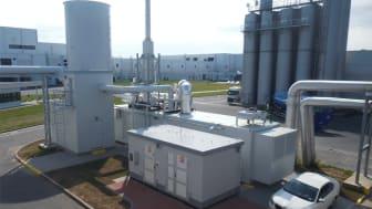 Rekonstruovaná kotelna a kogenerační jednotka v továrně na výrobu sušenek v Opavě