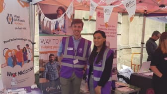 West Midlands Railway representatives at Colmore BID's Clean Air Day event 2019