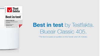 Blueair Classic 405 Best-in-test in independent third party testing of 12 different air purifier brands