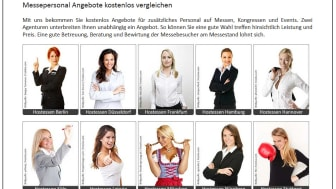Messehostessen am Messestand