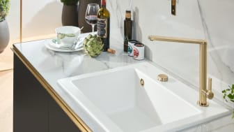 It's all about the finish!  Premium kitchen taps and fittings in gold, bronze and anthracite