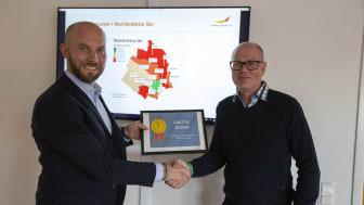 Claes Nordmark (S), kommunalråd tillsammans med Hans Andersson, regionchef Svenskt Näringsliv