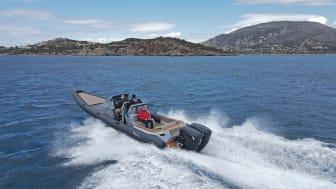 Cox's CXO300 twin diesel outboards on Ribco's Venom 39