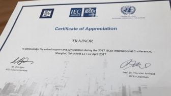 Trainor participation, 2017 IECEx International Conference
