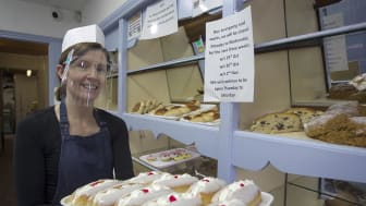 Rachel Smith from Irons Bakery is reminding everyone that Harryville businesses remain open.