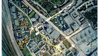 Flygbild Campus Solna