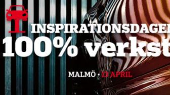 Inspirationsdagen 100%Verkstad landar på Luftkastellet i Malmö 13 april