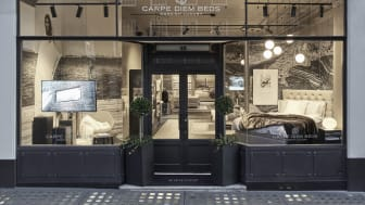 Carpe Diem Beds' storefront in the heart of Marylebone