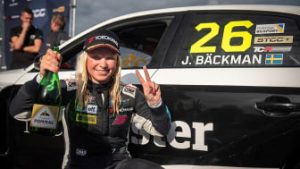 Jessica Bäckman 2nd in STCC at Anderstorp  Photo: Brink Motorsport (Free rights to use images)