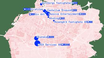 Nio Malmöföretag driver tillsammans Malmö Works. Illustration: Giv Akt.