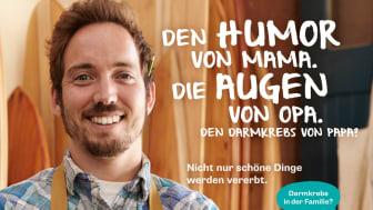 """Ausschnitt einer Anzeige für """"Darmkrebs in der Familie? Sprich drüber!"""""""