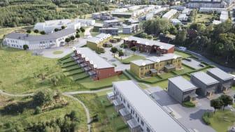 Säljstart för 17 efterlängtade rad- och kedjehus i Fornby, Gamla Uppsala