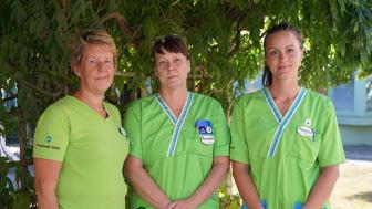 Marie-Charlotte Nilsson, Anne-Lie Krondahl och Rebecca Bornsäter.