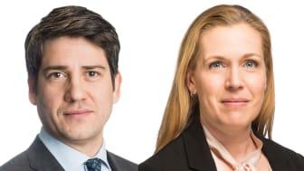 Daniel Anderbring, Head of Capital Markets och Sara Vesterlund, Deputy Head of Capital Markets för Cushman & Wakefield i Sverige.