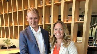 Mikkel Sandvik, koncernchef Mestergruppen och Karin Eriksson, VD XL-BYGG Sverige