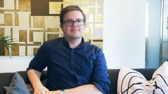 Erik Ronnje på Karlskronakontoret. Bild: AddMobile AB
