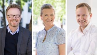 Gerhard Linder, utviklingssjef kontor, Camilla Aakre, utviklingssjef bolig, og Kjetil Bakken-Engelsen, leder LINK Arkitektur Oslo