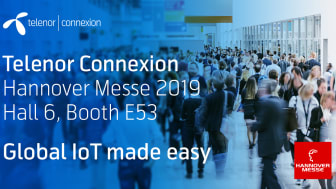 Meet Telenor Connexion at Hannover Messe 2019