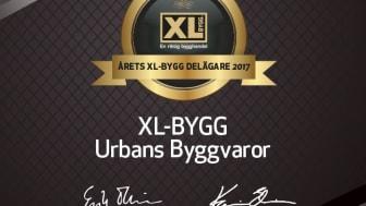 Årets XL-BYGG delägare 2017 är XL-BYGG Urbans Byggvaror!