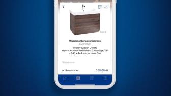 Informations produits et service au format numérique à destination des professionnels - la nouvelle application Villeroy & Boch