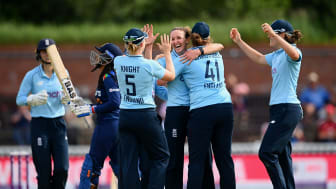 Kate Cross took 5-34 in England's win at Taunton. Photo: Getty Images