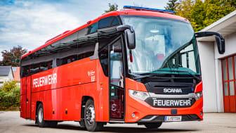 Der Scania Interlink HD ist die neue mobile Einsatzleit- und Stabstelle des Landes-Feuerwehrverbands Oberösterreich.