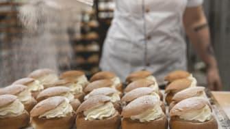 Klassisk semla från City Gross bageri