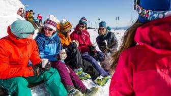 "Paus på Åreskutans topp - A ""fika"" on top of Mount Åreskutan"