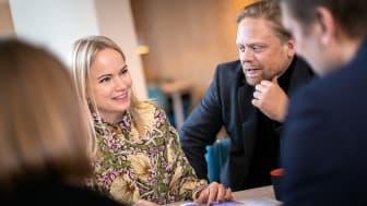 Två av grundarna Emma Lundberg och David Eriksson