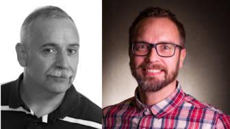 Mikael Aghammar och Stefan Johansson, Riksbyggen.