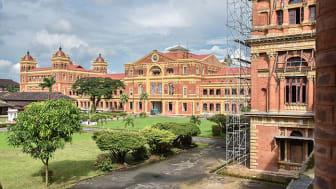 The Secretariat, Rangoon, en gång centrum för den brittiska kolonialadministrationen i Burma