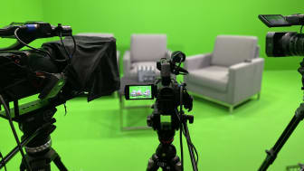 Our green screen studio in Singapore's Financial District