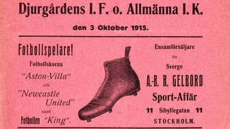 Matchprogram 1915