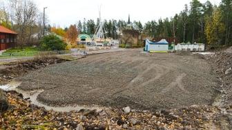 Där Lilla bergbanan en gång stod görs nu plats för en ny attraktion till 2020. Foto: Jacob Winges